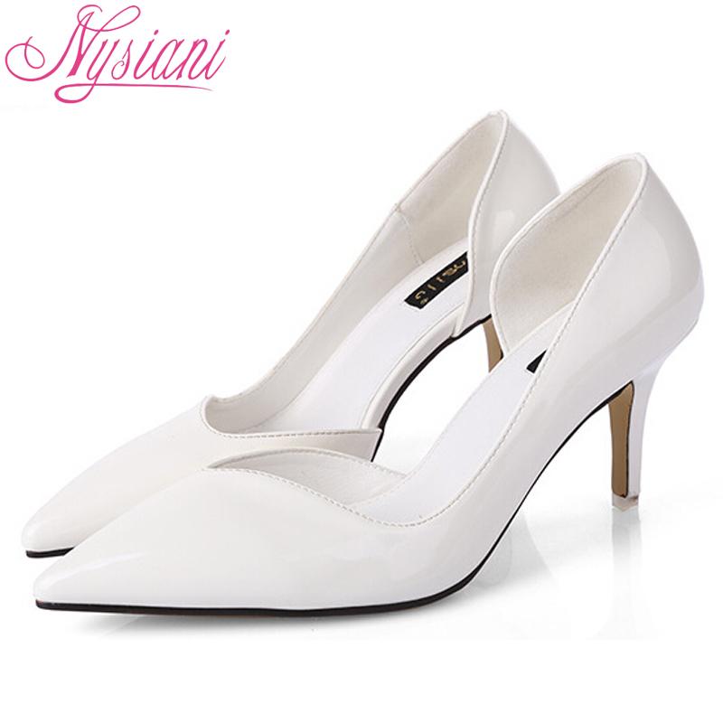 2016 Women Shoes High Heels Pumps Pointed Toe Stilettos Spring Summer Fashion Ladies Thin Brand Designer - Nysiani Guangzhou Design Center store