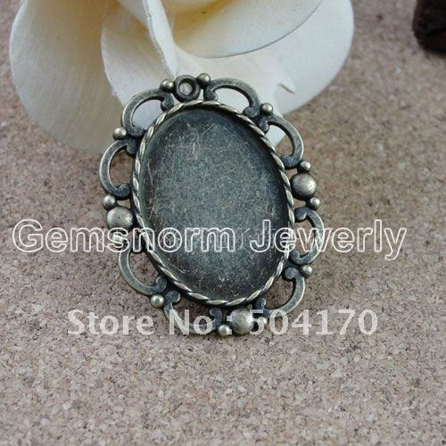 Free Shipping 100pcs/lot Jewelry Findings 41*33MM Vintage Zinc Alloy Pad Findings For 30*22MM Oval Pendant Perfect Design JF0101<br><br>Aliexpress