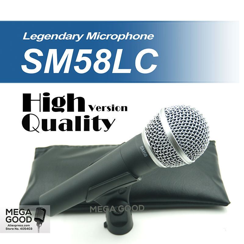Free Shipping! High Quality Version SM 58 58LC SM58LC Wired Vocal Karaoke Handheld Dynamic Microphone Microfone microfono Mic(China (Mainland))