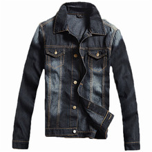 2016 men's casual fashion denim jaket with high quality and comfortable Male jeans jacket men overcoat M-XXXXL(China (Mainland))