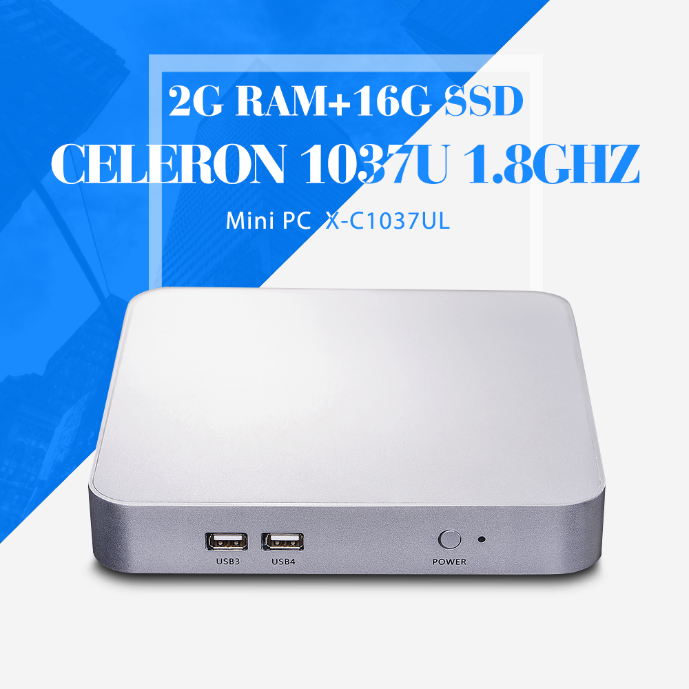 The Cheapest Thin Client With Hdmi Mini PC C1037U 2G RAM 16g SSD with wifi Desktop Computer Win 7 /8(China (Mainland))