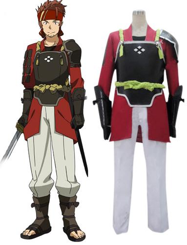 Men Man Boys Anime Sword Art Online Salamander Klein Cosplay Halloween Costume Headband Pants Coat Belt Underwear Gloves(China (Mainland))