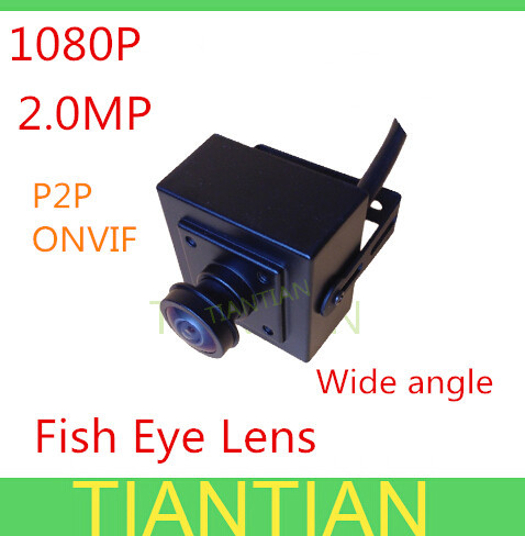 Full HD 2.0MP Fish eye wide angle Lens mini IP Camera 1080P ONVIF 2.0 indoor security camera bracket - Alan Han's store
