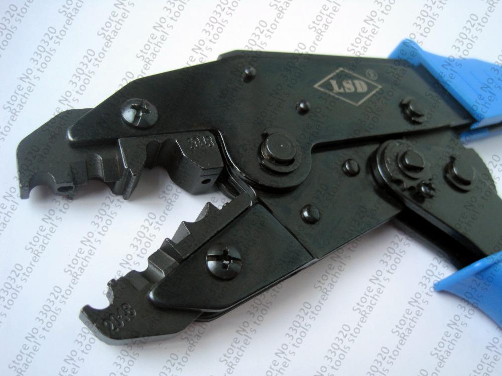 Spark plug wires crimping tool LS-2048 ratchet crimp tool for crimping and stripping spark plug wire hand crimping plier crimper(China (Mainland))