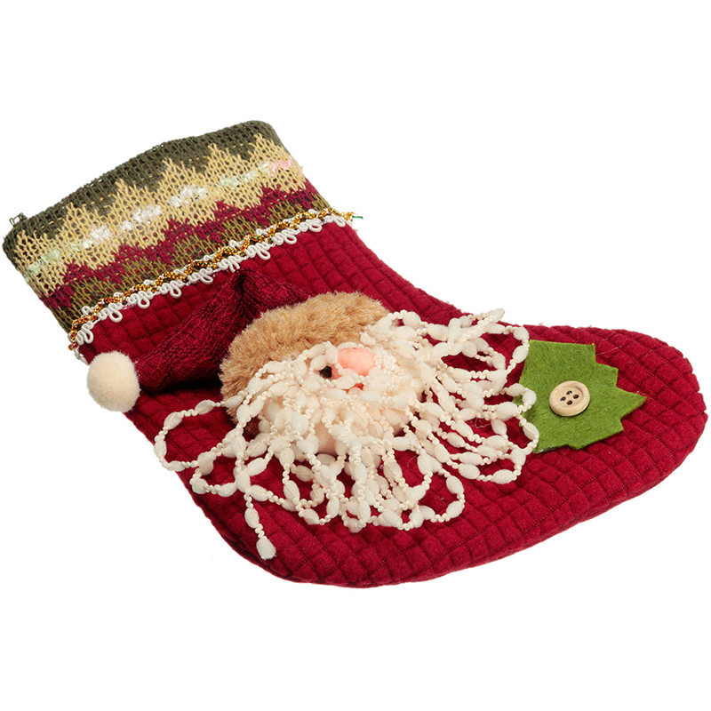 Mais novo!! Top Venda Nova Moda Dos Desenhos Animados Meias Papai Noel Boneco Elk Natal Festival de Natal Meias Decoração de Natal