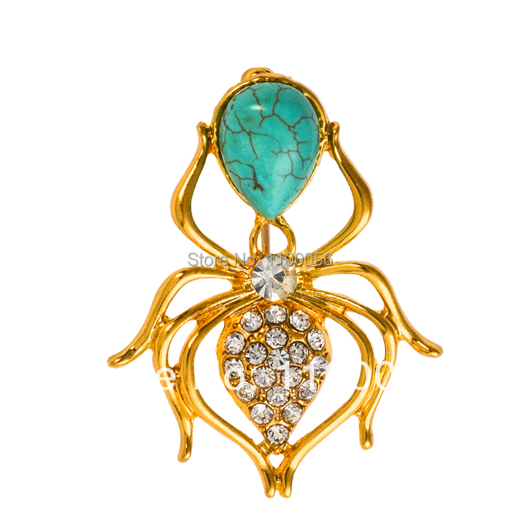 Free Shipping 2015 Stone Spider Brooch Pins Vintage Men Cheap Gold Rhinestone Crystal Broche X1223(China (Mainland))