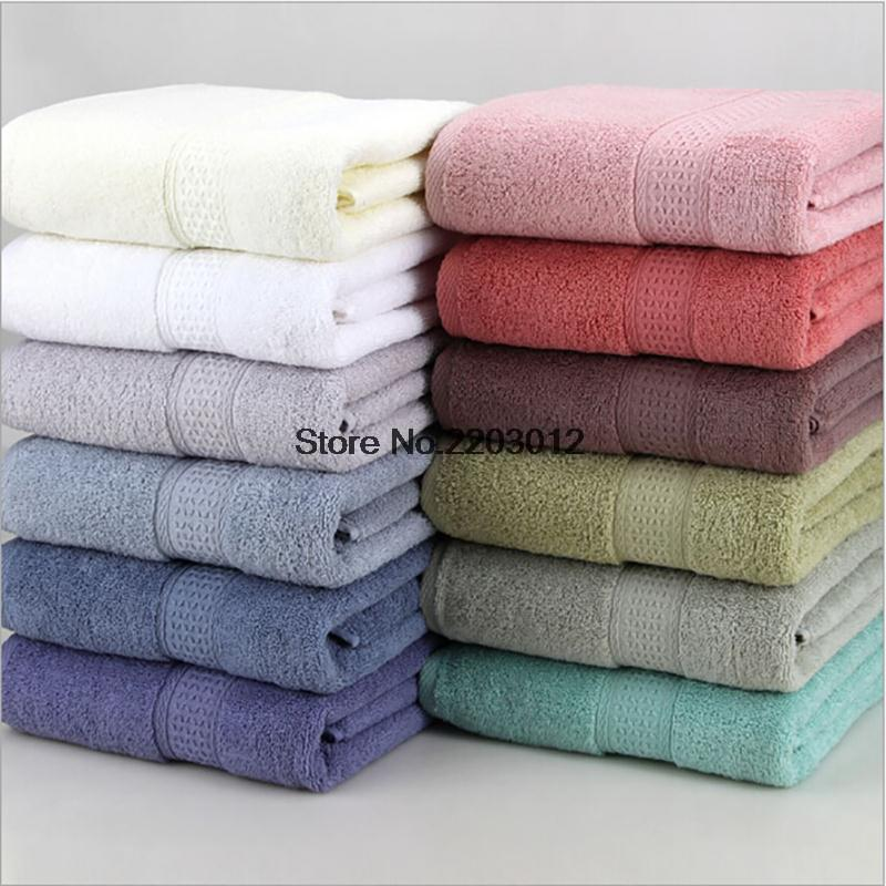 100% Cotton 135x70cm Bath Towel Solid Big Size Rectangle Beach Towel Soft Plain Dyed Hotel Towels Home Textile High Quality(China (Mainland))