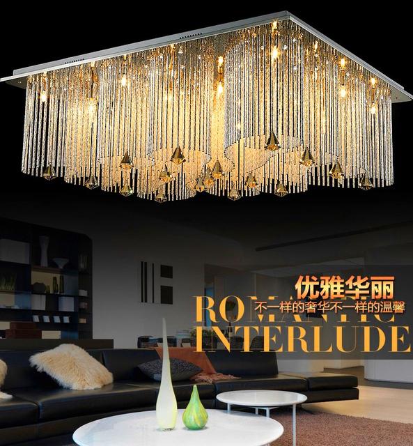 Moderne minimalistische wohnzimmer lampe kristall lampe geführt