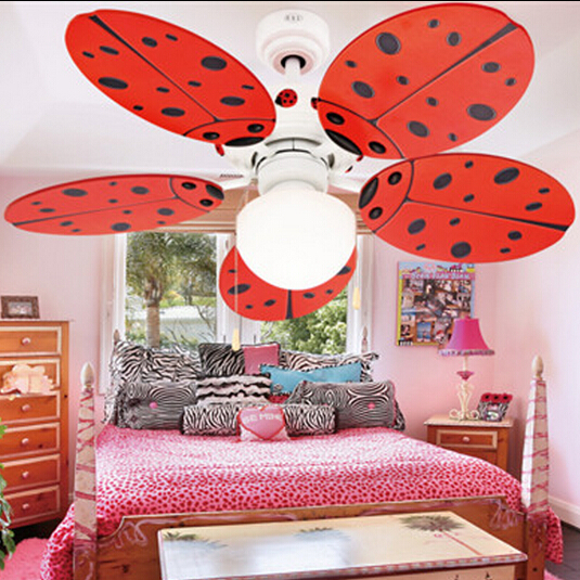 Lovely kids ceiling fan modern fan lamp for kids room for Ceiling light for kids room