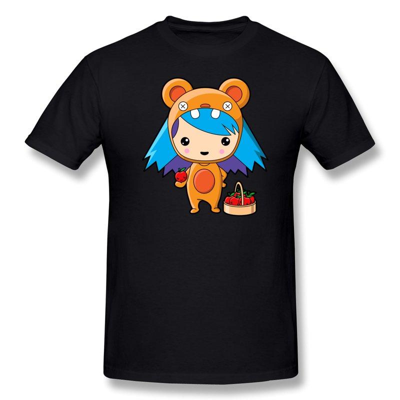 Customize solid men 39 s t shirt the red fruit fan cool logo for Logo t shirt dress