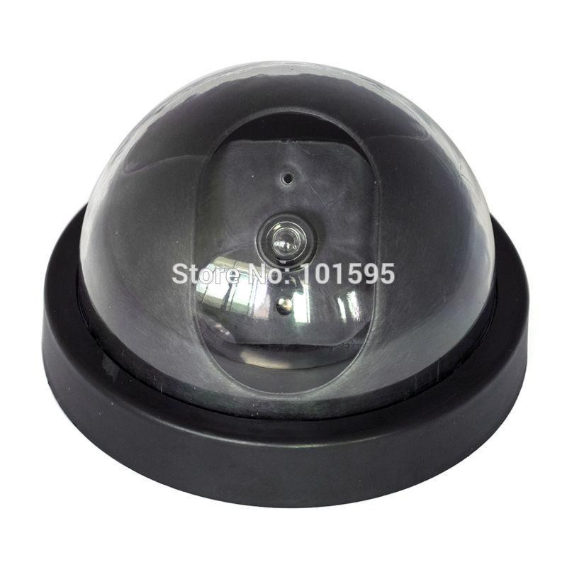 New Dummy Simulation Security CCTV Camera Emulator Monitors Hemisphere Dome False with Flashing Lights Camera on Store Street (China (Mainland))