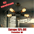 Ceiling lights Fan style balcony fashion vintage Ceiling lamps black fan Ceiling light E27 bulbs