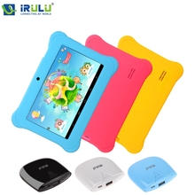 Kids Education Original iRulu Brand 7″ Tablet PC for kids Dual Core Dual Camera A7 Android 4.2 8GB Free Game Learn Grow Play