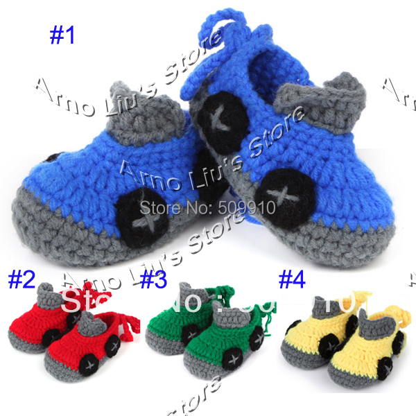 Crochet Pattern Baby Shoes Booties Newborn Infant First Walker Boots Handmade Toddler Slippers Shoe 10 Pairs/lot(China (Mainland))