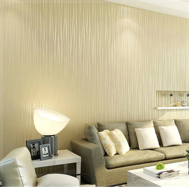 non woven wallpaper plain minimalist living room warm and