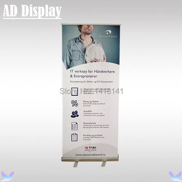 80*200cm Aluminum Telescopic Roll Up Banner Stand,Portable Pull Up Banner,Trade Show Retractable Advertising Display Equipment(China (Mainland))