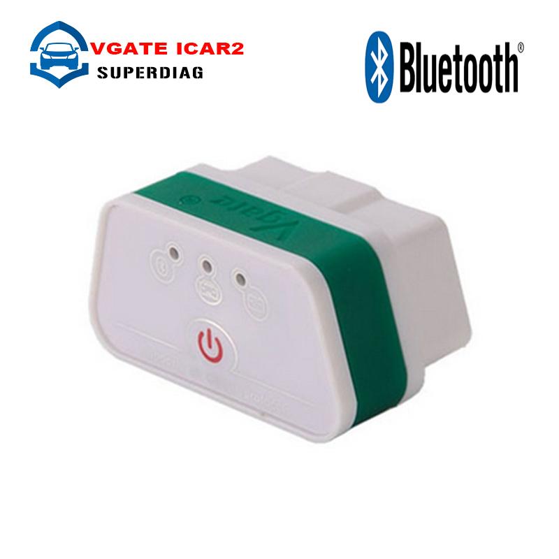 Super Vgate iCar2 ELM327 OBD2 Bluetooth Adapter OBD 2 Car Diagnostic Tool Scanner ELM 327 V2.1 Diagnostic-Tool For Android PC(China (Mainland))