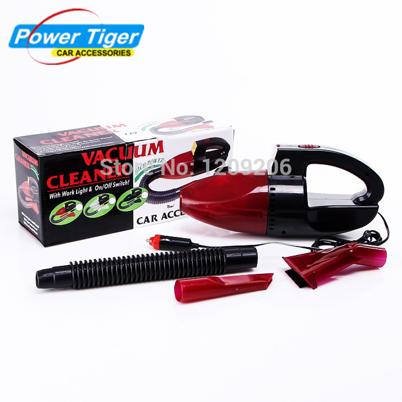 Car Vacuum Cleaner Super Suction Mini 12V High-Power Wet and Dry Portable Handheld Vacuum Cleaner For Car Auto Red Color(China (Mainland))