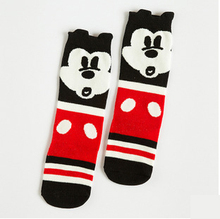 1pair cute cartoon fox mickey bear duck fashion design baby boy girl kids knee high socks for boys girls child brand new 0-6Y(China (Mainland))