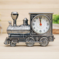 Home Decor Vintage Alarm Clock Men Retro Train Office Desk Alarm Clock Birthday Xmas Creative Novelty