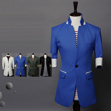 2015 Rushed Real Regular Linen Single Breasted Broadcloth Full Mens Floral Blazer Suit Men Jacket Men