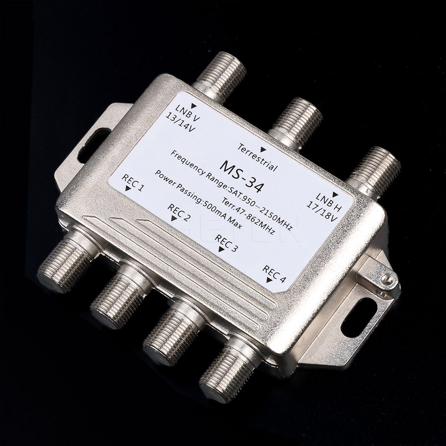 MS34EZ 3x4 Satellite MultiSwitch Splitter FTA TV LNB Switch Cascade satellite 3 in 4 Out Multiswitch Good Quality(China (Mainland))