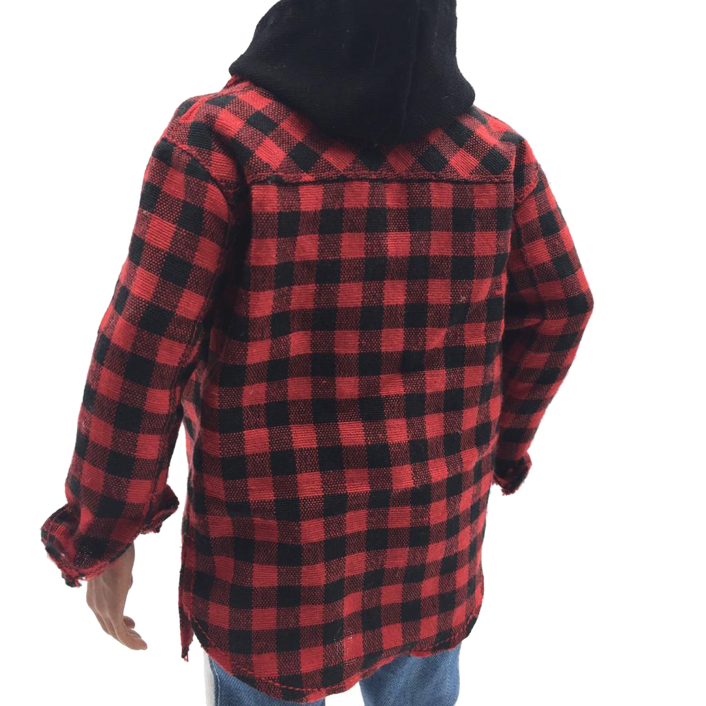 1:6 Scale Red Plaid Shirt Jacket Male Clothes for 12 inch Men Action Figure Toy DIY Accessories