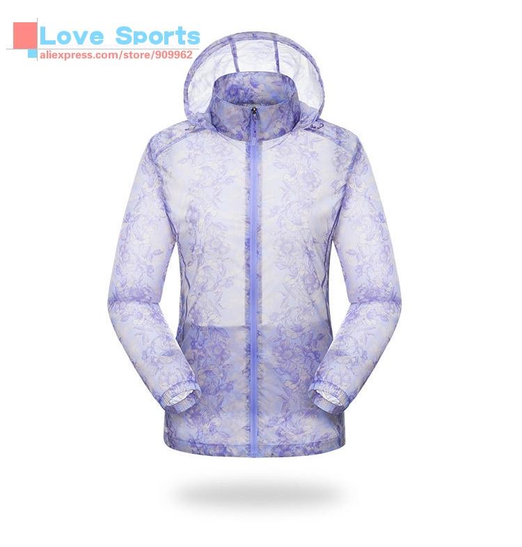 Outdoor Leisure Suit Ultraviolet-proof Sunscreen Light Jacket Skin Coat Sport Wear For Women(China (Mainland))