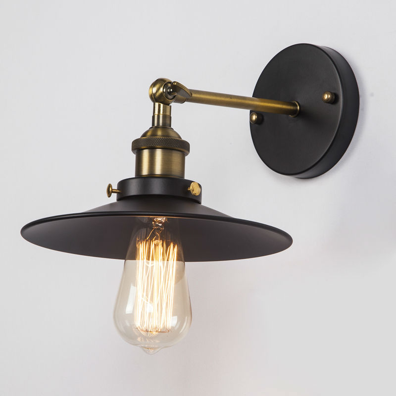 Black Retro Wall Lights : Vintage Black Wall Lamps American Country Retro Industrial Warehouse Wall Lights Restaurant Loft ...
