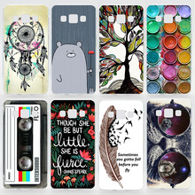 Case For Samsung Galaxy A5 2015 A500 A5 2016 A510 Transparent Coloured Drawing Plastic Hard Phone Cover For Samsung Galaxy A5