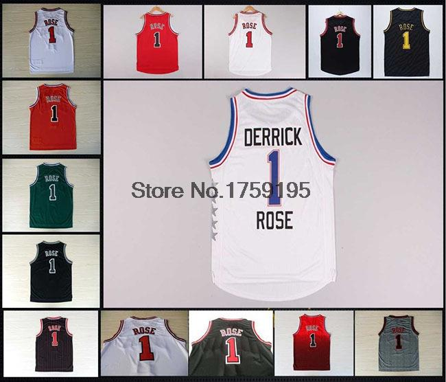 Top Best quality #1 Derrick Rose Jersey,New Material Rev 30 Basketball jersey,Authentic Jersey,Rose Chicago Basketball Jersey(China (Mainland))