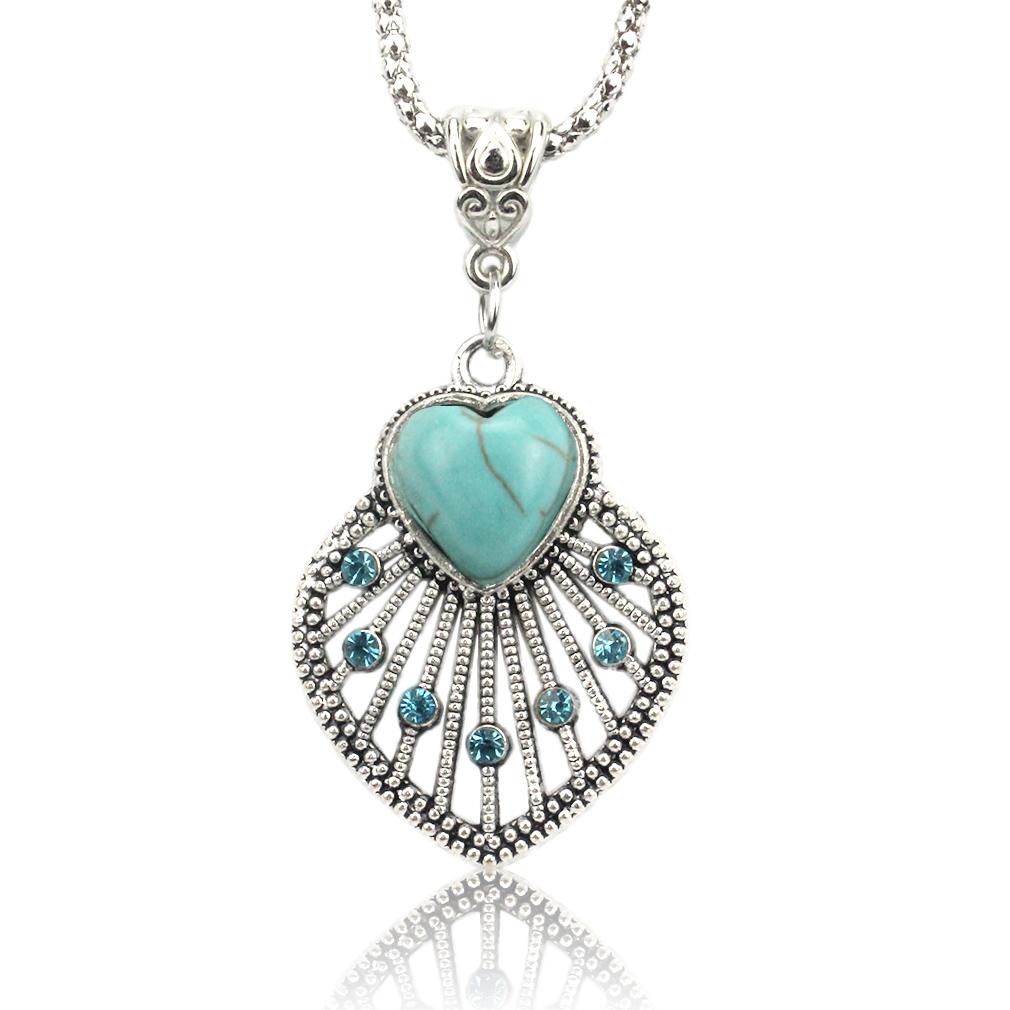Vintage Hollow Out Love Heart Pendants Necklace Fashion ...