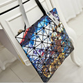 New Fashion Printing Baobao Bag Ladies Geometric Plaid Laser Women Handbag Brand Designer Tote Bag Shoulder