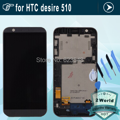 Original LCD Display with Touch Screen Digitizer frame Assembly for HTC desire 510 black or white + tools