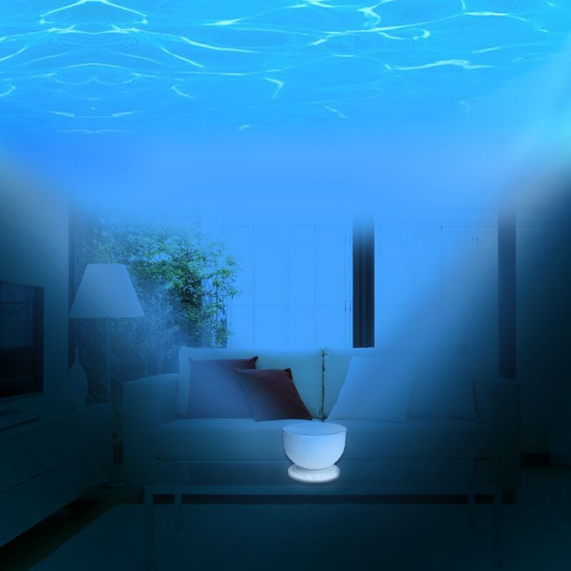 Ocean Sea Wave Projector Lamp with Speaker Romantic Beautiful LED Ocean Projection High Quality Blue Ocean Projector Night Light(China (Mainland))