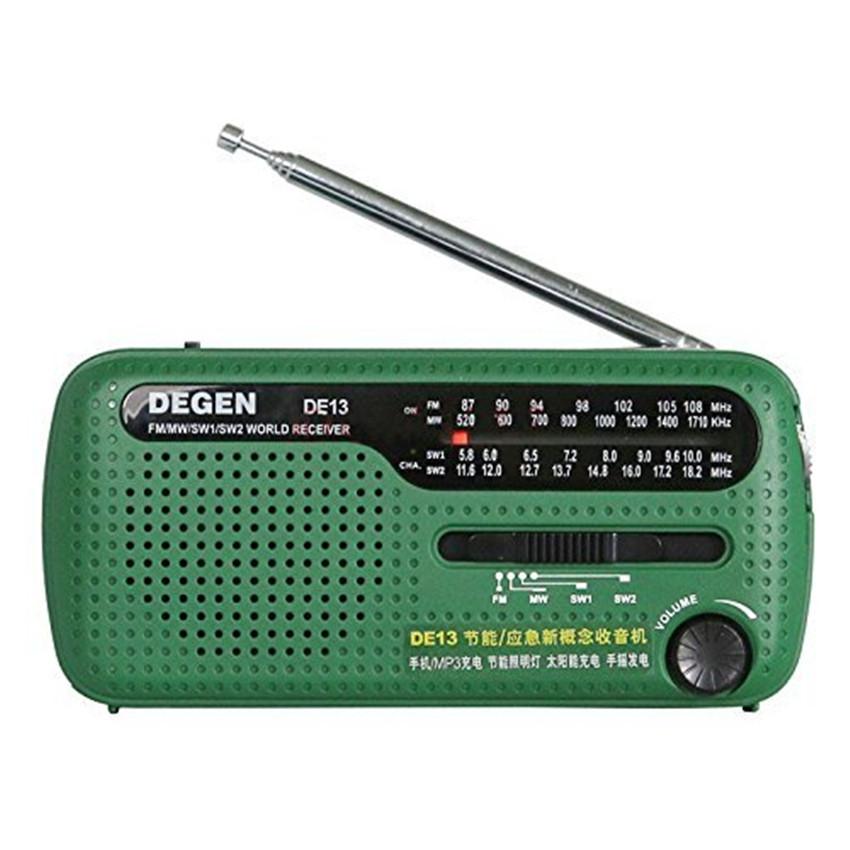 DE13 FM AM SW Hand Crank Dynamo Radio & Solar Powered Radio Portable Mini Fm Radio Pocket Emergency Radio World Receiver(China (Mainland))
