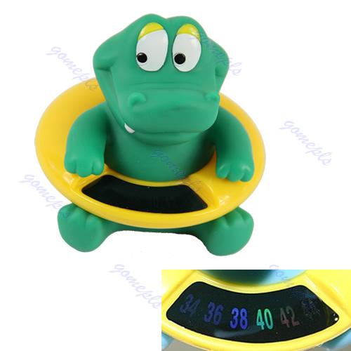 Мода милый мультфильм крокодил младенческой ванна тестер термометр температура воды ...