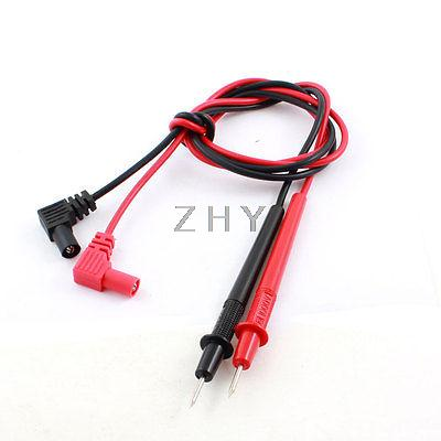 2Pcs Black Red Digital Multimeter Test Extension Lead Wire(China (Mainland))