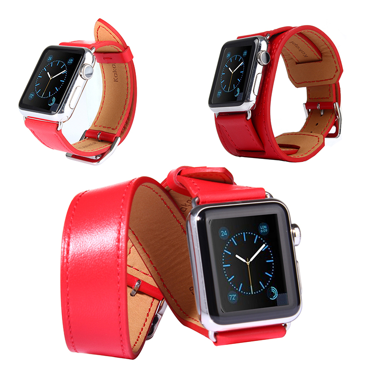 38mm 42mm Four Chain Band 4 in 1 Genuine Leather Luxury Brand Iwatch Band Bracelet Watch Strap for Apple Watch I53.<br><br>Aliexpress