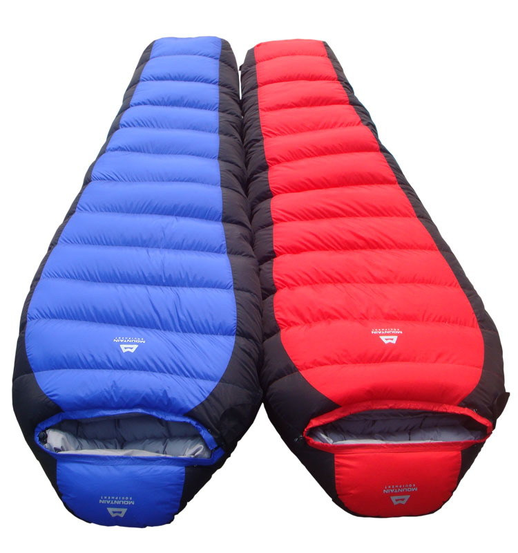 -10 Degree  1.8 KG ! Winter Outdoor Down Sleeping Bag Mummy Type Duck Down Winter Thickening Down sleeping bag -10<br>