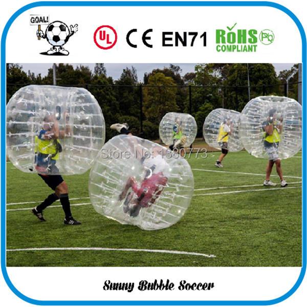 Free Shipping 12pcs (6pcs Red+6pcs Blue+2pc Blower)1.5M PVC Good Quality Bubble Soccer, Body Zorb Ball, Bubble Ball Suits.(China (Mainland))