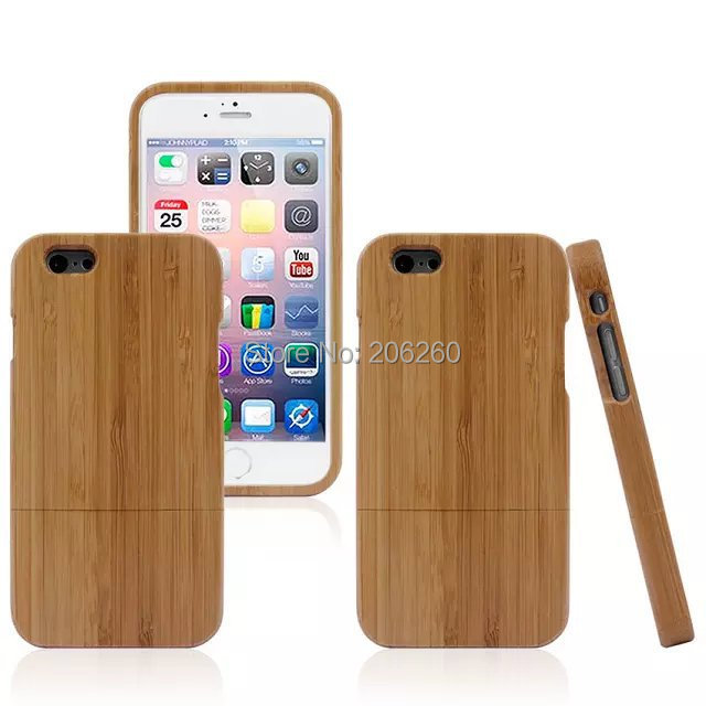 10pcs/lot Luxury Wood Bamboo Lines Hard Cover Back Case For iphone 6G New Arrive 4.7''(China (Mainland))
