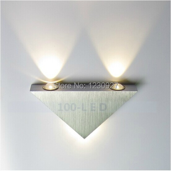 Triangle LED wall lamp modern European-style bedroom living room of the head  creative led wall lamp corridor wall lamp <br><br>Aliexpress