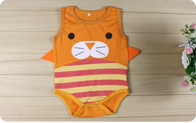 Лето младенцы боди мальчики девочки эксклюзивный дизайн животное пчёлы божья коровка га одежда комбинезон