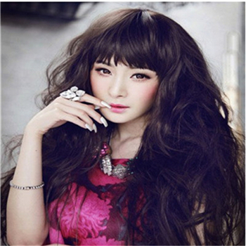 Goldway 2015 Hot Sale 3 Color Stylish Ladies Women's Long Curly Perfumes Loose Wave Wig Top Quality(China (Mainland))