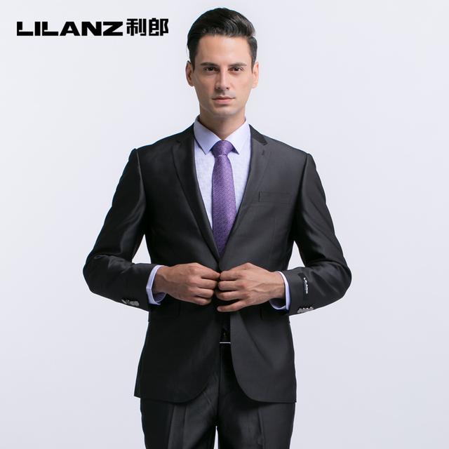 Lilanz ropa hombre traje comercial trajes para hombre gris oscuro 3cxf111 vestido de boda delgado