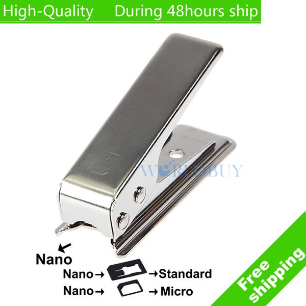 High Quality Stainless Iron Regular Sim card to 4FF Nano Sim Cutter for iPhone 5 5G 5th Free shipping(China (Mainland))
