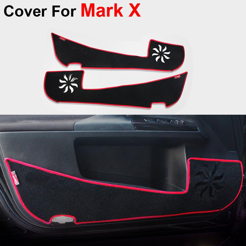 Car Styling Door Protecter Pad For Toyota Mark X Reiz 2011 2012 2103 2014 Sedan Anti-kick Mat For Automobiles Free Shipping(China (Mainland))