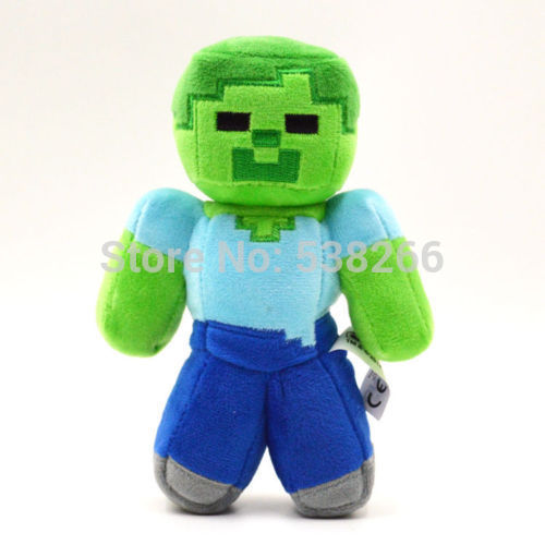 "Гаджет  Fashion Children Soft Plush Toy 18cm/7"" Minecraft Steve Creeper Zombie Ghost Doll Xmas Gift GAME None Игрушки и Хобби"