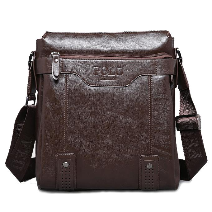 Men bag 2015 Polo famous brands genuine leather bag High Quality men messenger bags vintage laptop